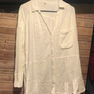 Gorgeous linen style Free People tunic size small